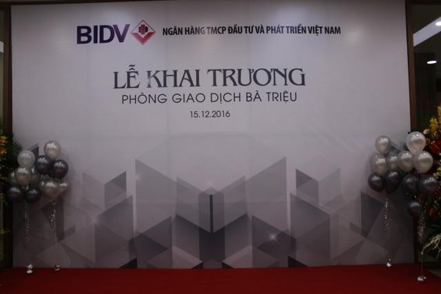 Khai trương Phòng Giao dịch Bà Triệu của BIDV với dịch vụ ngân hàng trọn gói