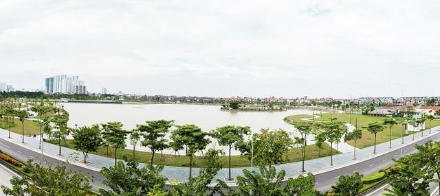 Không gian sống xanh tại KĐT Thành Phố Giao Lưu