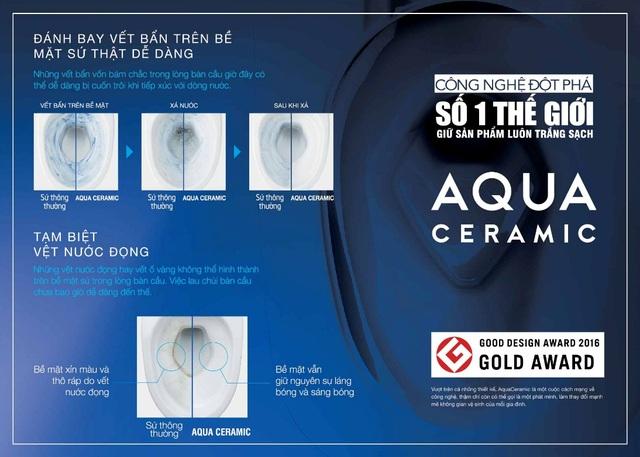 AQUA Ceramic giúp việc cọ rửa trở nên dễ dàng hơn bao giờ hết