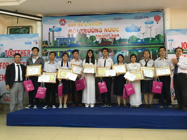 Cuộc thị hùng biện tiếng Anh do Aeon phối hợp tổ chức cùng Sở Giáo Dục Đào Tạo TP.HCM vào tháng 5 vừa qua.
