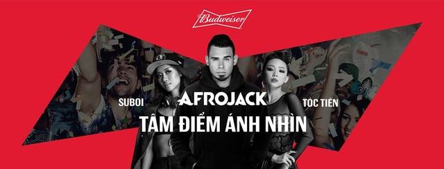 Suboi và Tóc Tiên sẽ mang đến phần trình diễn đặc biệt cho ca khác All Eyes on Us cùng nhà sản xuất âm nhạc – DJ Afrojack trong sự kiện ngày 18 tháng 12 này.