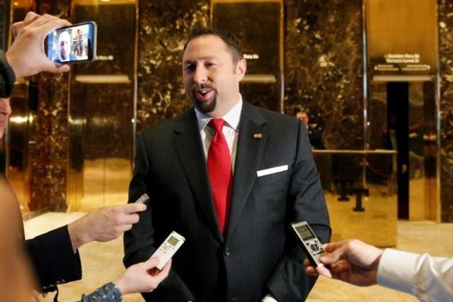 Jason Miller, phát ngôn viên kiêm cố vấn cấp cao của Tổng thống Mỹ đắc cử Donald Trump. (Ảnh: Reuters)
