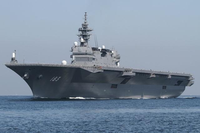 Tàu chiến JS Izumo. (Ảnh: AsiaTimes)
