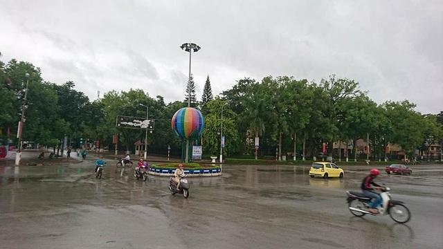 Trung tâm TP Lạng Sơn chiều nay đã tạnh mưa.