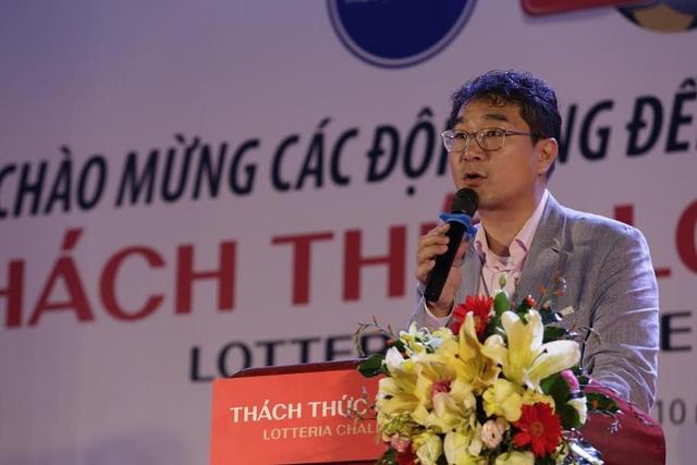 Tổng giám đốc Loterria Việt Nam Kim Dong Jin phát biểu tại ngày hội Fairplay