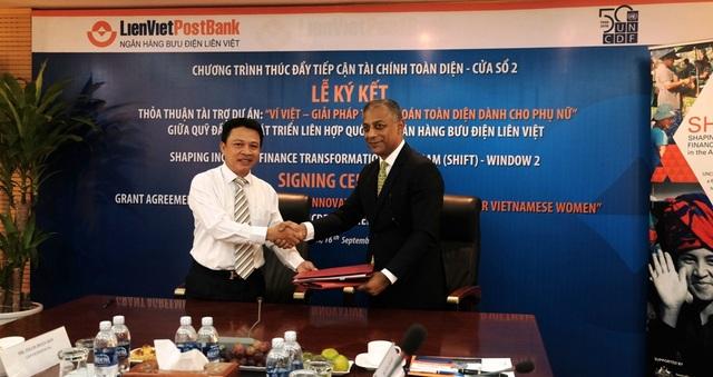 LienVietPostBank và UNCDF ký kết thỏa thuận tài trợ phát triển Ví Việt cho phụ nữ - 1