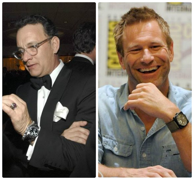 Cặp đôi nổi tiểng trong phim cở trương Sully Tom Hank, Aaron Eckhart cũng yếu thích mẫu đồng hồ Bell & Ross cá tính.