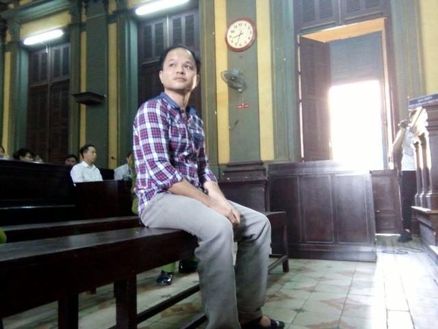 Bị cáo Minh tại phiên xử sáng nay