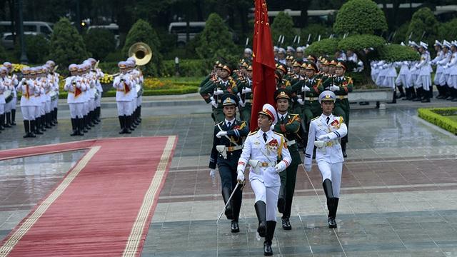Hình ảnh Lễ đón Tổng thống Pháp tại Phủ Chủ tịch - 7