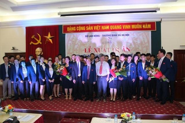 Lễ xuất quân đoàn Việt Nam tham dự Kỳ thi tay nghề Asean lần thứ 11.