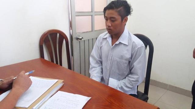 Nghi phạm Châu Minh Nhân tại cơ quan điều tra