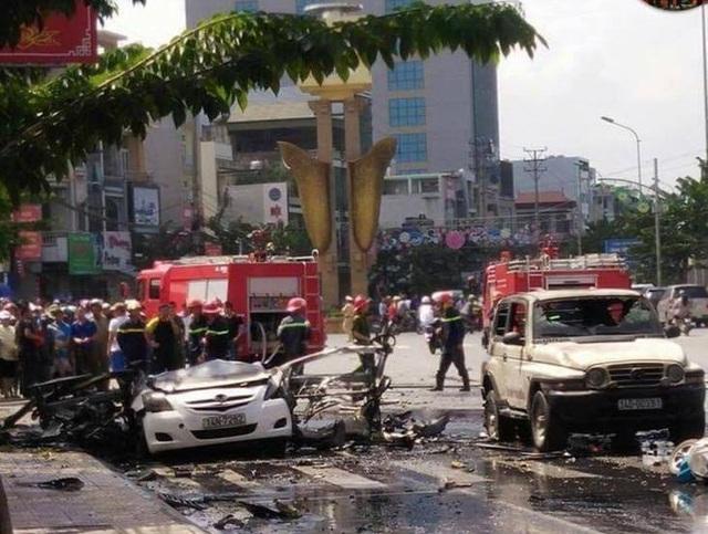 Xe taxi phát nổ kinh hoàng ở Cẩm Phả, 2 người thiệt mạng - 3