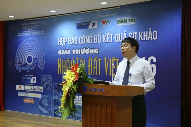 Ông Tô Mạnh Cường, Phó Tổng giám đốc VNPT, đồng tổ chức Giải thưởng Nhân tài Đất Việt