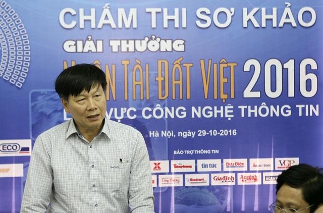 Ông Đinh Minh Sơn - Phó Ban Chất lượng Tập đoàn, Giám đốc Công ty IPC, Thường trực BTC Giải thưởng NTĐV phát biểu tại buổi chấm sơ khảo.