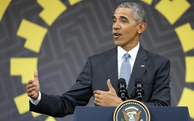 Tổng thống Mỹ Barack Obama trong cuộc họp báo bên lề hội nghị APEC ở Peru. (Ảnh: Reuters)