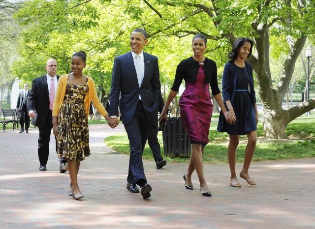 Gia đình Tổng thống Obama. (Ảnh: AFP)
