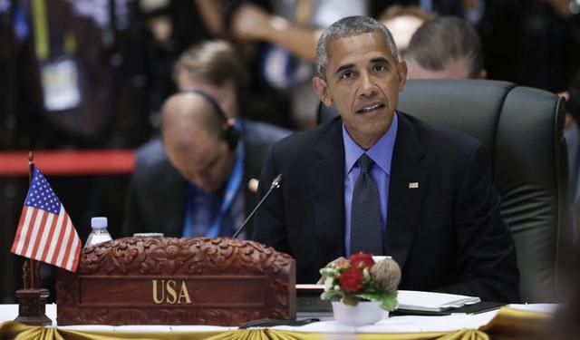 Tổng thống Mỹ Barack Obama nhấn mạnh phán quyết của tòa trọng tài quốc tế về Biển Đông có tính ràng buộc. (Ảnh: AFP)