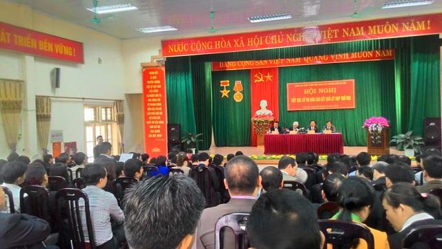 Quang cảnh buổi tiếp xúc cử tri huyện Đông Anh (Hà Nội) của Tổng Bí thư Nguyễn Phú Trọng.