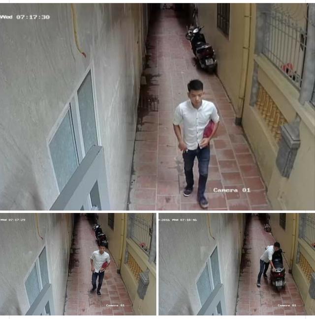 """Nam thanh niên giả dạng """"sinh viên"""" trộm chiếc xe Lead ngày 7/9 vừa qua"""