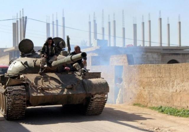 Xe tăng của phiến quân ở Morek, Hama
