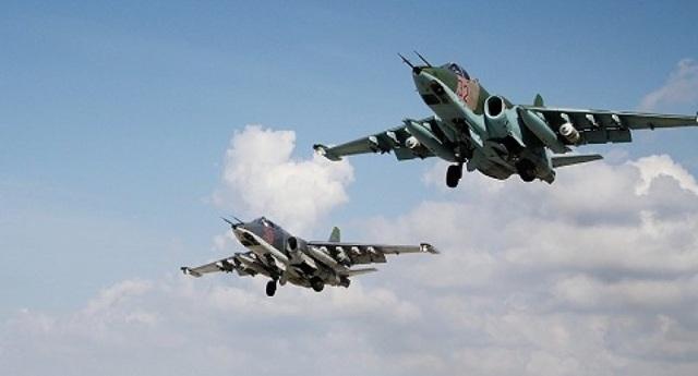 Các máy bay Nga trên bầu trời Syria