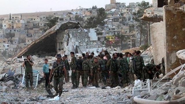 Binh sỹ Syria ở Aleppo. (Nguồn: EPA)