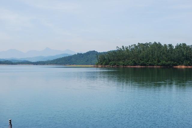 Hồ Phú Ninh nơi 2 em học sinh bị đuối nước