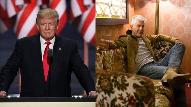 Tổng thống đắc cử Mỹ Donald Trump và đầu bếp Anthony Bourdain (Nguồn: foodandwine.com)