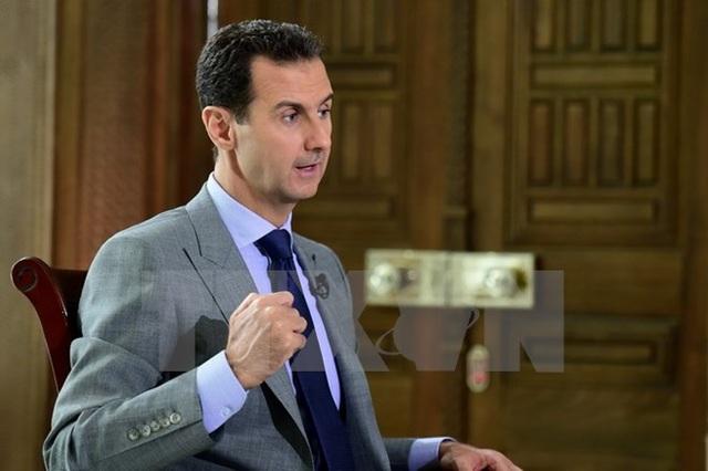 Tổng thống Syria Bashar al-Assad tại Damascus ngày 12/10. (Nguồn: EPA/TTXVN)