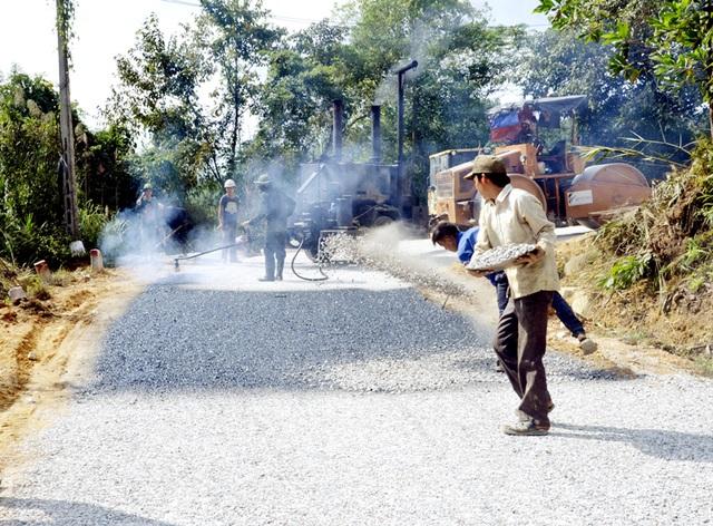 Đoạn đường Trại Me - Kỳ Thượng - Đạp Thanh đang được đẩy nhanh tiến độ thi công.