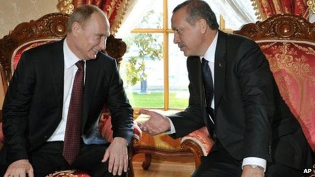 Tổng thống Nga Putin và Tổng thống Thổ Nhĩ Kỳ Erdogan trong một cuộc hội đàm