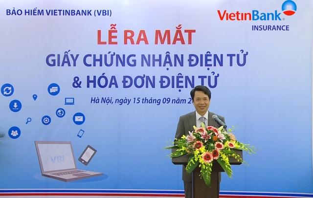 Ông Lê Tuấn Dũng – Tổng Giám đốc VBI phát biểu tại buổi lễ.