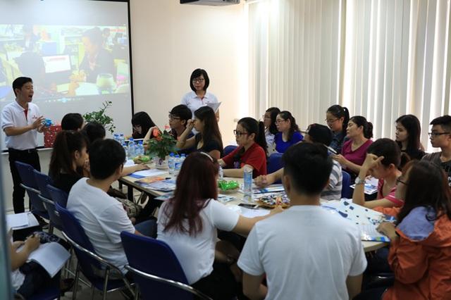 Lớp luyện phỏng vấn Mỹ theo nhóm giúp sinh viên học hỏi kinh nghiệm trả lời phỏng vấn
