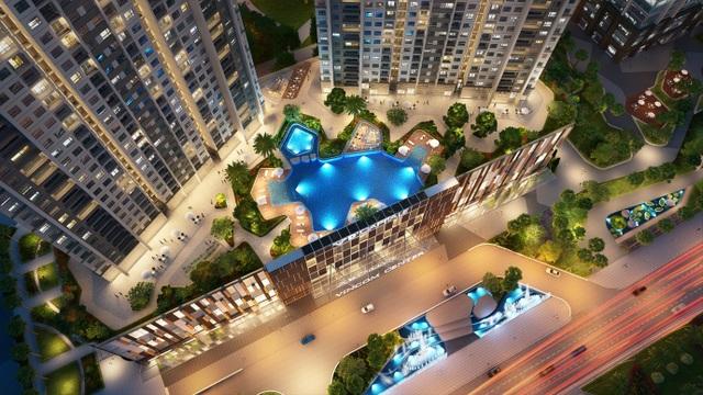 Trung tâm thương mại Vincom 6 tầng sẽ là tâm điểm vui chơi giải trí của khu vực
