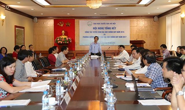 Giám đốc ĐHQGHN Nguyễn Kim Sơn chủ trì hội nghị