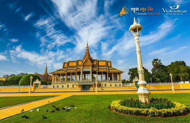 """Hoàng cung Campuchia là một trong những nơi bạn nhất định phải ghé thăm khi đặt chân đến """"đất nước của sự bí ẩn"""""""