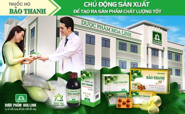 (Thuốc ho Bảo Thanh được sản xuất trong nhà máy đạt các tiêu chuẩn thực hành tốt với quy trình kiểm soát chất lượng chặt chẽ)
