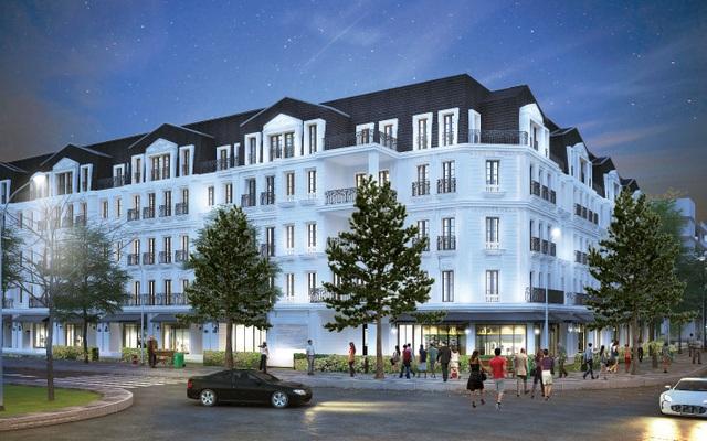 Nhà phố thương mại đẳng cấp theo phong cách thiết kế của Pháp tại dự án Belleville Hà Nội