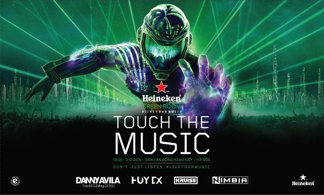"""Heineken Green Room đem tới trải nghiệm âm nhạc chưa từng có """"Touch The Music - Chạm vào âm nhạc"""""""