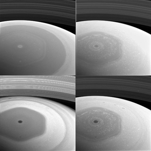 Cơn bão kỳ lạ có hình lục giác ở cực bắc sao Thổ