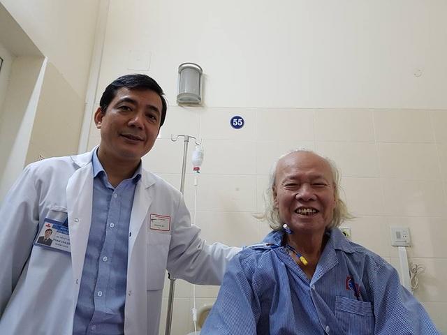 Sau 6 ngày phẫu thuật bệnh nhân hoàn toàn khoẻ khoắn. Ảnh: H.Hải