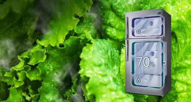 Hai hệ thống làm lạnh độc lập với hai luồng hơi lạnh riêng biệt, không cho sự trao đổi khí lạnh từ ngăn mát sang ngăn đá và ngược lại. Do đó, các loại thực phẩm ở hai ngăn này không bị lẫn mùi và giữ trọn vẹn hương vị thuần khiết như ban đầu.