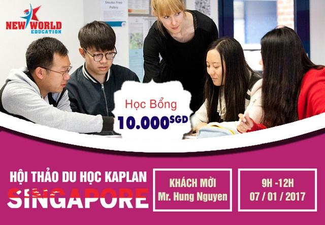 Hội thảo học bổng 10,000 SGD Kaplan Singapore 2017 và nhiều ngành HOT - 1