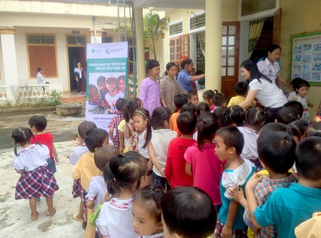 Chương trình khám tầm soát bệnh tim bẩm sinh cho hơn 2.200 cháu ở huyện Tân Kỳ, tỉnh Nghệ An của Bệnh viện Hoàn Mỹ Đà Nẵng