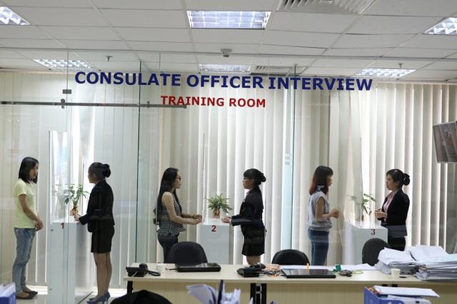 Luyện phỏng vấn Mỹ 1:1 tạo cho sinh viên sự tự tin khi đi phỏng vấn với lãnh sự