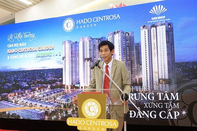 Ông Đinh Trọng Lễ, đại diện Chủ đầu tư Hà Đô phát biểu tại lễ khai trương căn hộ mẫu