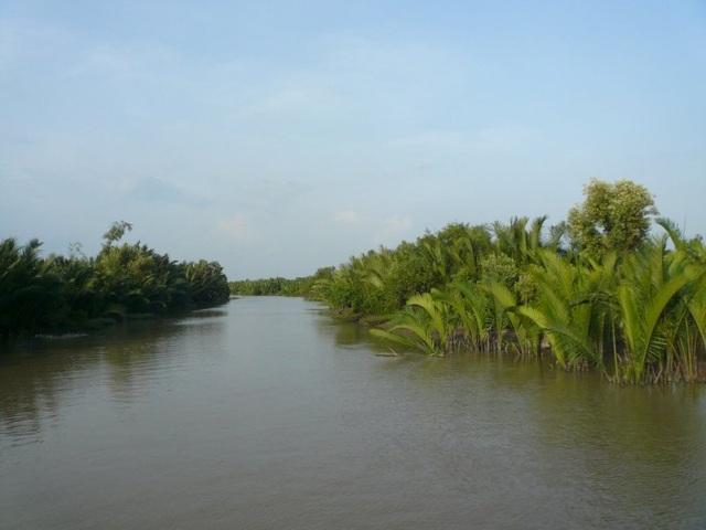 Vẻ đẹp bình yên của vùng sông nước.