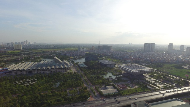 Hướng nhìn ôm trọn công viên Trung tâm Hội nghị quốc gia từ CT4 Vimeco