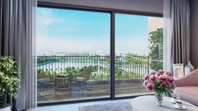 D'.Capitale có hơn 50% căn hộ là căn góc, với các loại 1-3 phòng ngủ trên diện tích từ 57-122m2