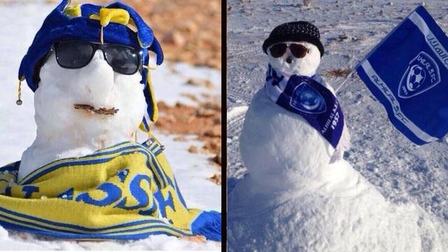 Người dân kinh ngạc khi thấy tuyết rơi giữa... sa mạc - 2